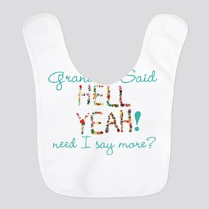 Hell Yeah Personalized Polyester Baby Bib