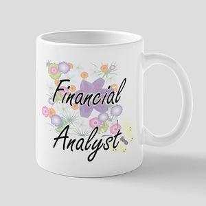 Financial Analyst Artistic Job Design with Fl Mugs