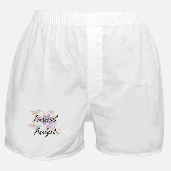 Financial Analyst Artistic Job Design Boxer Shorts