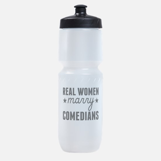 Real Women Marry Comedians Sports Bottle