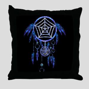Glowing Dreamcatcher Throw Pillow