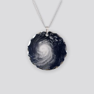 HURRICANE IRENE Necklace Circle Charm
