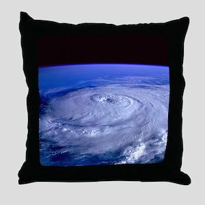 HURRICANE ELENA Throw Pillow