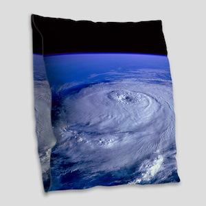 HURRICANE ELENA Burlap Throw Pillow