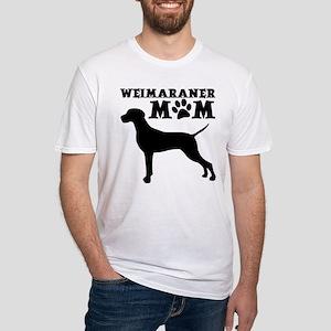 WEIMARANER MOM Fitted T-Shirt