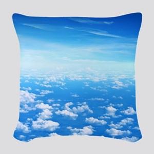 CLOUDS Woven Throw Pillow