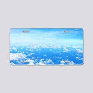 CLOUDS Aluminum License Plate