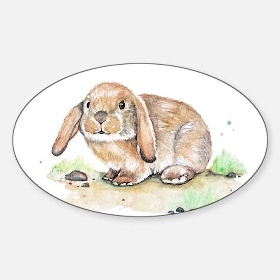 Watercolor Bunny Decal
