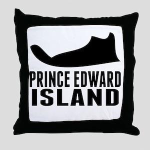 Prince Edward Island Silhouette Throw Pillow
