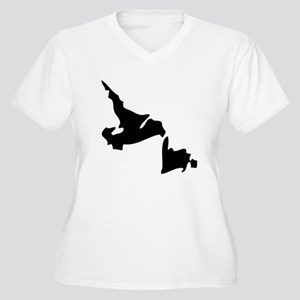 Newfoundland and Labrador Silhouette Plus Size T-S