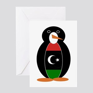 Penguin of Libya Greeting Cards