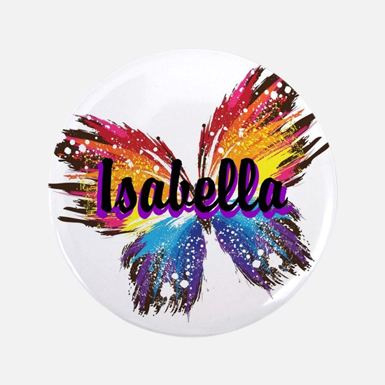 "Personalize Butterfly 3.5"" Button"