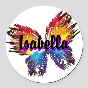 Personalize Butterfly Round Car Magnet