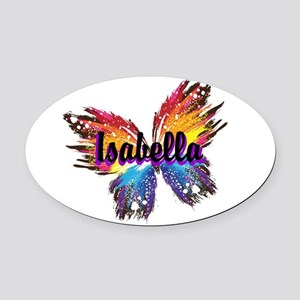 Personalize Butterfly Oval Car Magnet