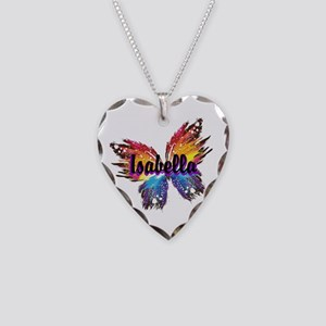 Personalize Butterfly Necklace Heart Charm