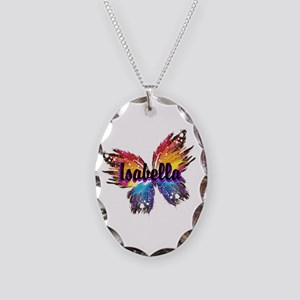 Personalize Butterfly Necklace Oval Charm