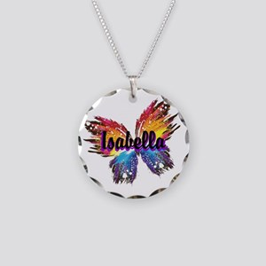 Personalize Butterfly Necklace Circle Charm