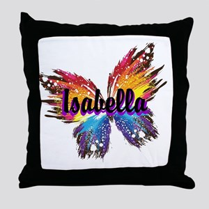Personalize Butterfly Throw Pillow