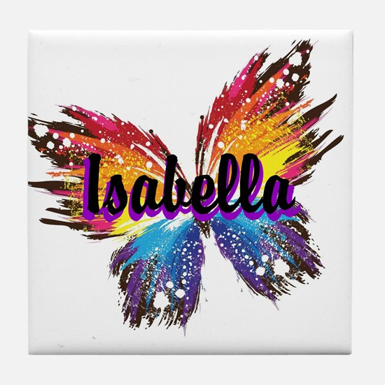 Personalize Butterfly Tile Coaster