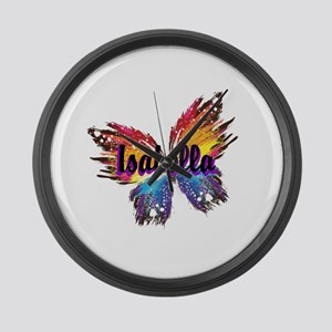 Personalize Butterfly Large Wall Clock