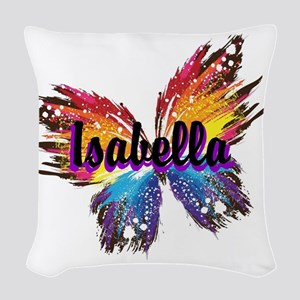 Personalize Butterfly Woven Throw Pillow