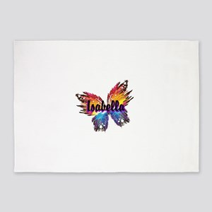 Personalize Butterfly 5'x7'Area Rug