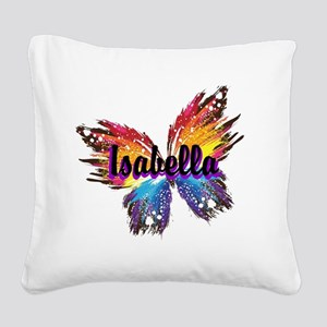 Personalize Butterfly Square Canvas Pillow