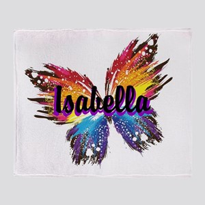 Personalize Butterfly Throw Blanket