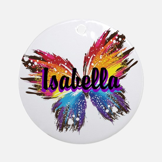 Personalize Butterfly Round Ornament