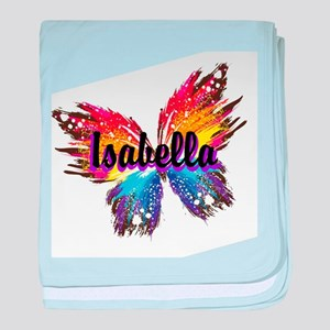 Personalize Butterfly baby blanket