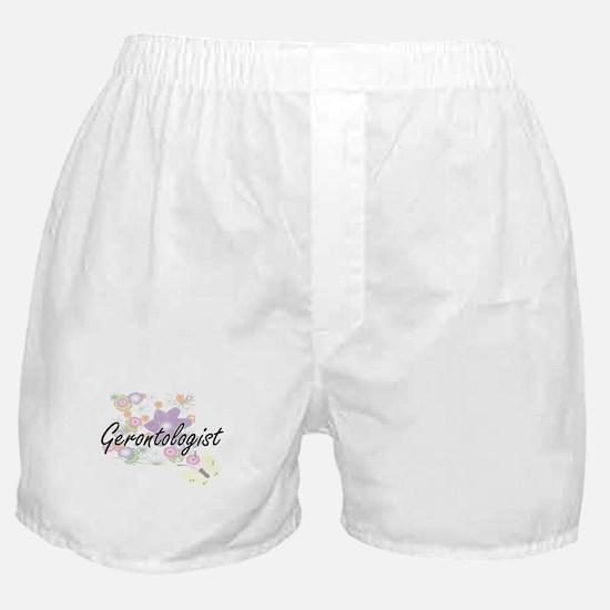 Gerontologist Artistic Job Design wit Boxer Shorts