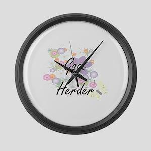 Goat Herder Artistic Job Design w Large Wall Clock