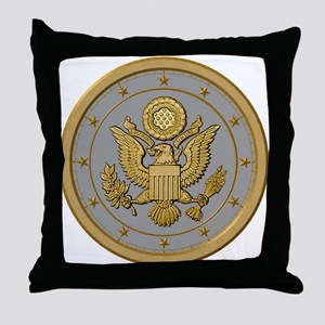 PATRIOT SILVER Throw Pillow