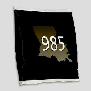 Louisiana 985 Burlap Throw Pillow