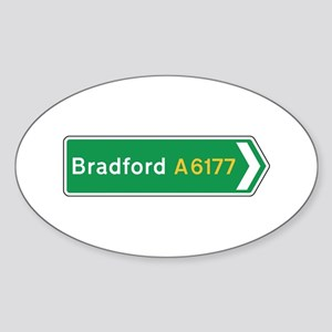 Bradford Roadmarker, UK Oval Sticker