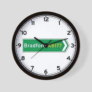 Bradford Roadmarker, UK Wall Clock
