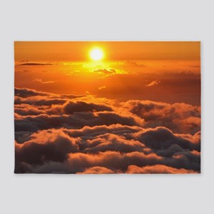 SUNSET OVER CLOUDS 5'x7'Area Rug