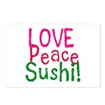 Love Peace Sushi Postcards (Package of 8)