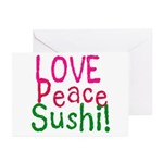 Love Peace Sushi Greeting Cards (Pk of 10)