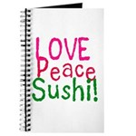 Love Peace Sushi Journal