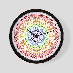 Namaste Mandala Wall Clock