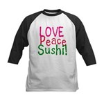 Love Peace Sushi Kids Baseball Jersey