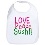 Love Peace Sushi Bib