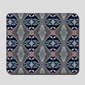 Patternized Male Downy Woodpecker Mousepad