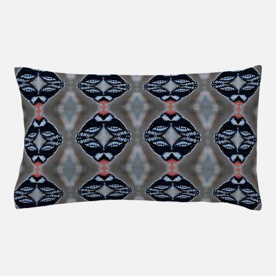 Patternized Male Downy Woodpecker Pillow Case