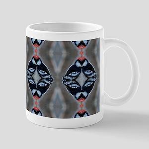 Patternized Male Downy Woodpecker Mugs