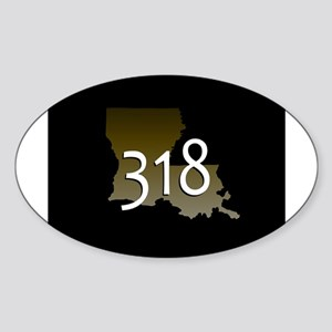 LOUISIANA 318 Area Code Sticker