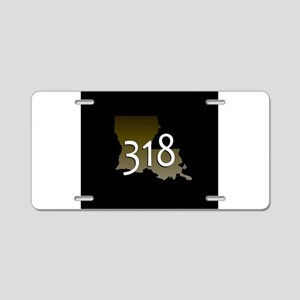 LOUISIANA 318 Area Code Aluminum License Plate