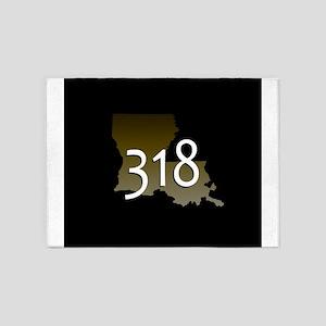 LOUISIANA 318 Area Code 5'x7'Area Rug