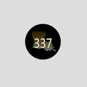 LOUISIANA 337 Area Code Mini Button
